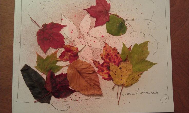 bricolage avec des feuilles d 39 automne feuilles mortes ou pas pinterest bricolage. Black Bedroom Furniture Sets. Home Design Ideas
