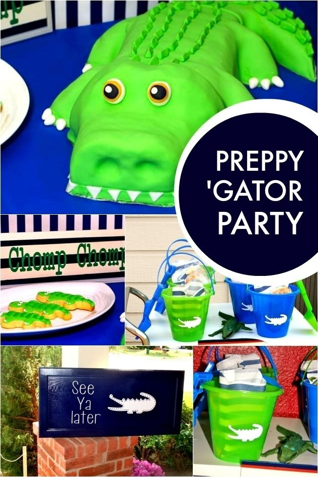 preppy alligator boy's birthday party www.spaceshipsandlaserbeams.com: