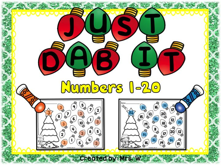 Christmas Bingo Dauber Printables - Numbers 1-20