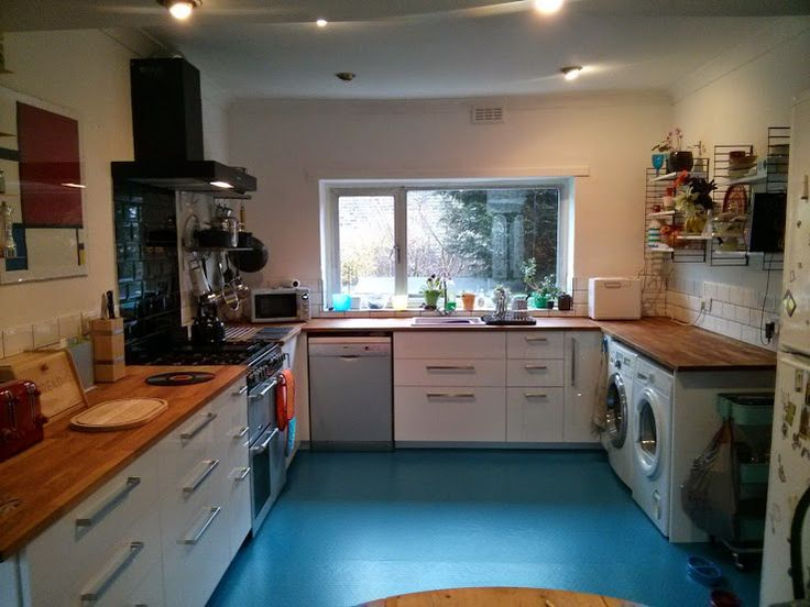 Our new kitchen, installed all by ourselves (with a bit of help from a plumber for the cooker).