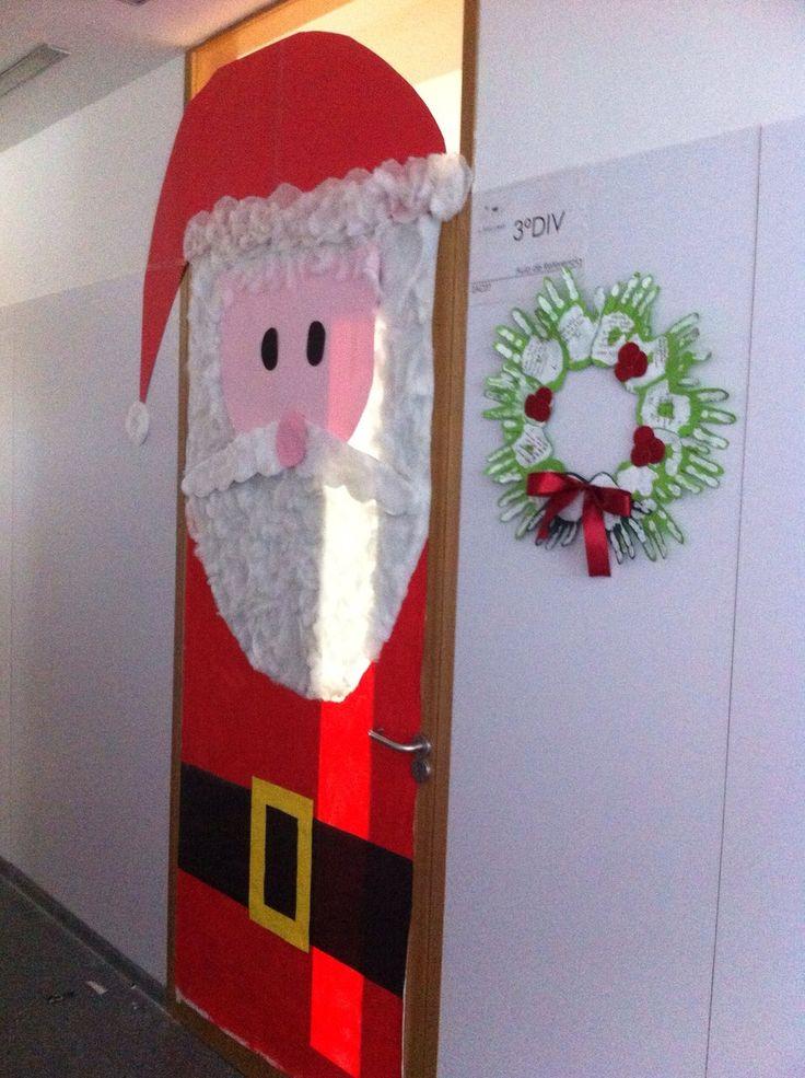 Mejores 33 im genes de decoraci n puertas navidad en for Puertas decoradas navidad colegio