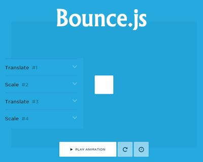 Bounce.js – Javascript Library to Create Beautiful CSS3 Animations