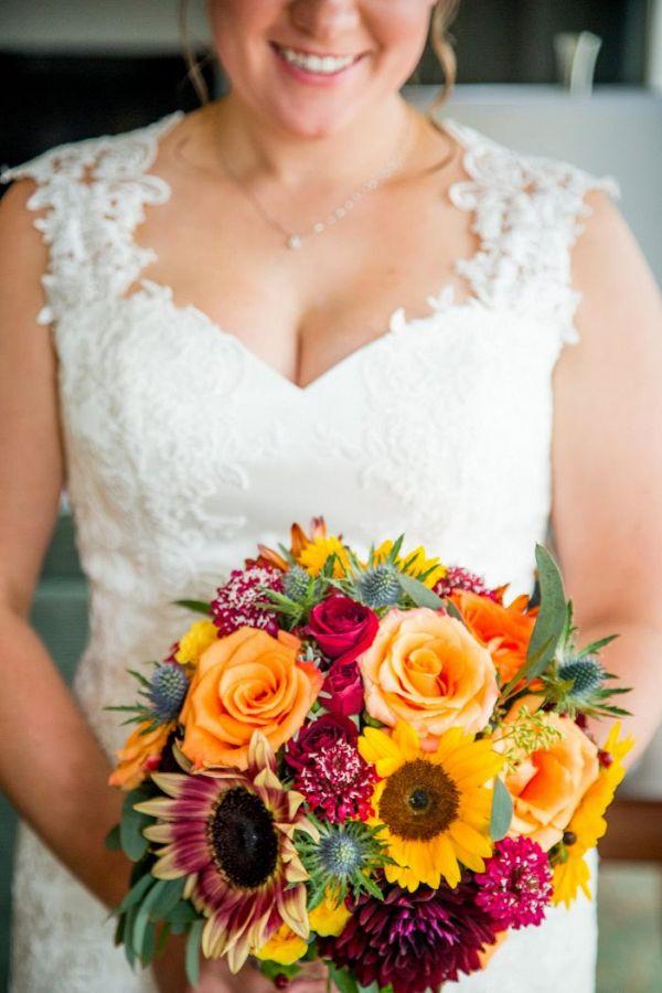 Orange bouquet    #weddings #weddingideas #aislesociety  #fallwedding