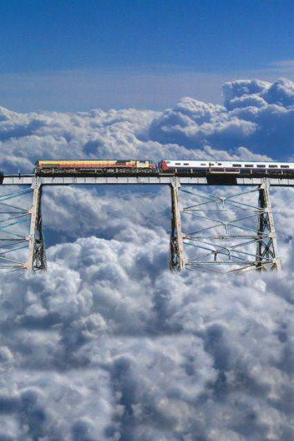 A train to the clouds. Argentina --not enough Dramamine in the world to get me on one of these!