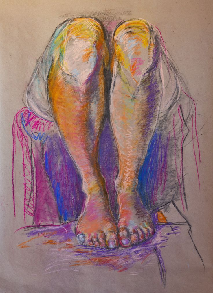 Figure drawing, Julie Čermáková 2016 #legs #drawing #selfportrait #charcoal