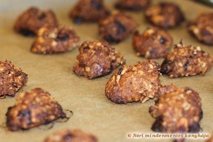 Nóri mindenmentes konyhája: Csokis-mandulás zabkeksz