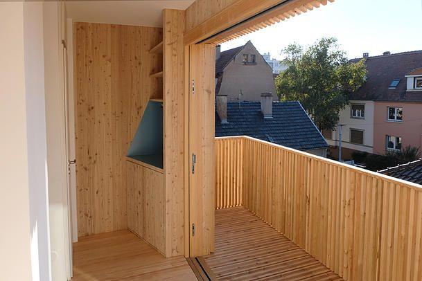 32 best loggias balcons bois images on Pinterest Architecture - Combien Coute Une Extension De Maison