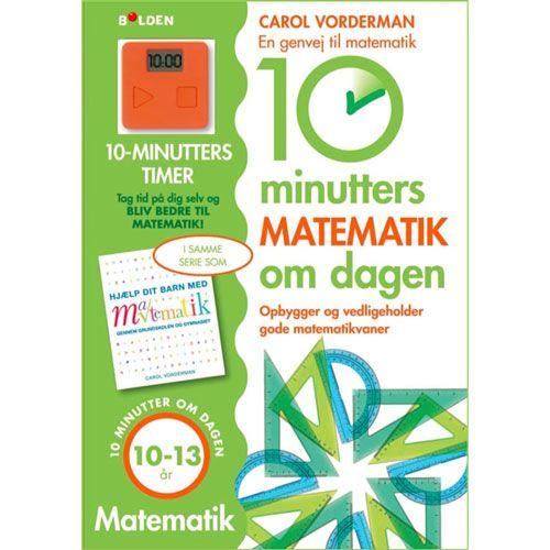 Den medfølgende timeren settes på 10 min og oppgavene løses i den rekkefølgen som passer til barnet. Det handler ikke kun om å bli ferdig med et oppslag på 10 minutter, men om å bruke 10 minutter om dagen på matematikk.