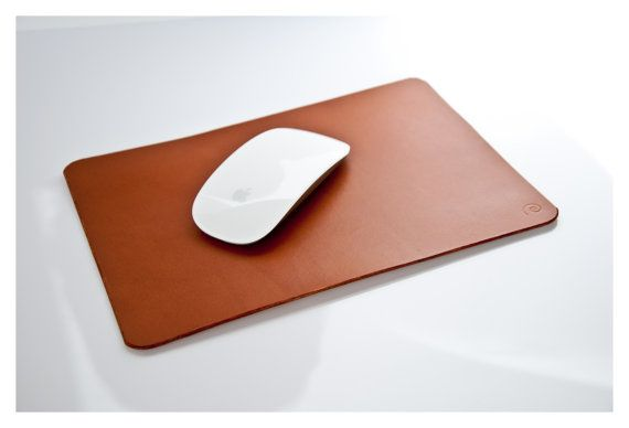 Leather Mouse Pad in Beech Nut, Leather Pad, Leather Mat, Office Accessory, Leather Desk Pad, Leather Tablet Mat,Leather Desk, Mens Gift