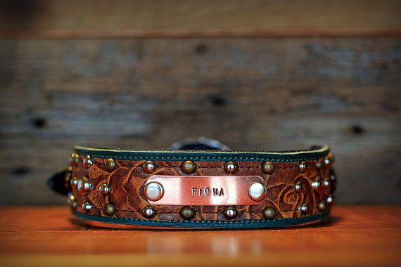 Hey, I found this really awesome Etsy listing at https://www.etsy.com/listing/126152571/custom-leather-dog-collar-w-name-plate