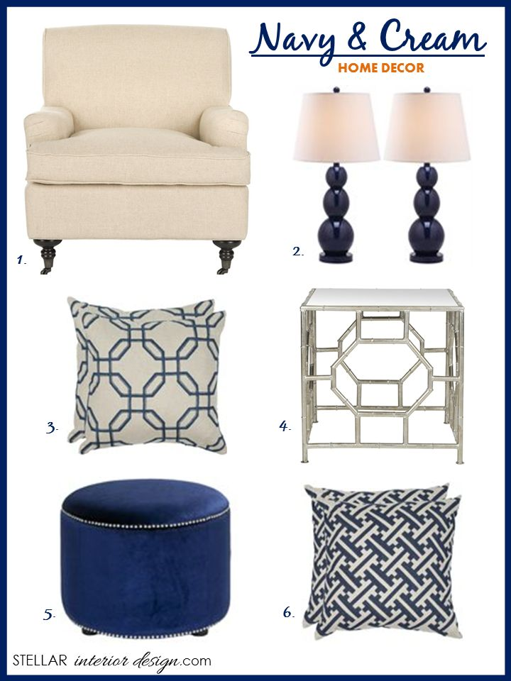 Navy and Cream Decor - Stellar Interior Design