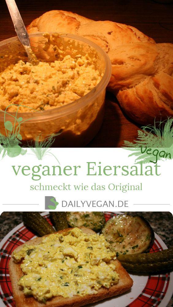 Eiersalat, rein pflanzlich, schmeckt wie das original und hat die glaiche Konsistenz. In 10 Minuten selbst gemacht!