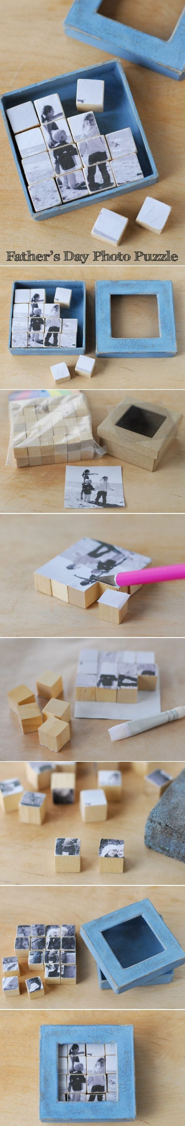 Fathers Day Photo Puzzle Gift
