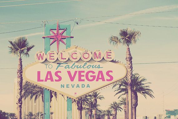 """Welcome to Fabulous Las Vegas"" Sign, Nevada USA Travel Photo Art Print - via Etsy.com"