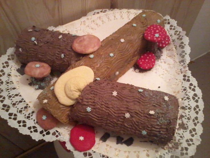 Fatörzs torta, kávé és csoki krémmel