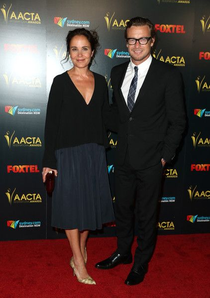 Rebecca Rigg and Simon Baker attend The 6th AACTA International Awards on January 6, 2017 in Los Angeles, California. - The 6th AACTA International Awards -