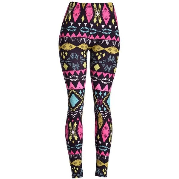 Amazon.com: High Quality Printed Leggings (Ancient): Clothing ($15) ❤ liked on Polyvore featuring pants, leggings, bottoms, jean, blue leggings, patch pants and blue pants