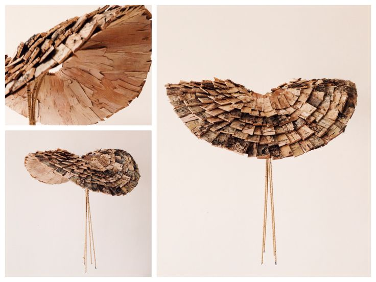 Tree bark structure for bridal bouquet by NO NO NO