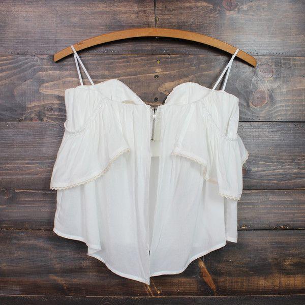 boho chic off the shoulder crop top | white – shophearts