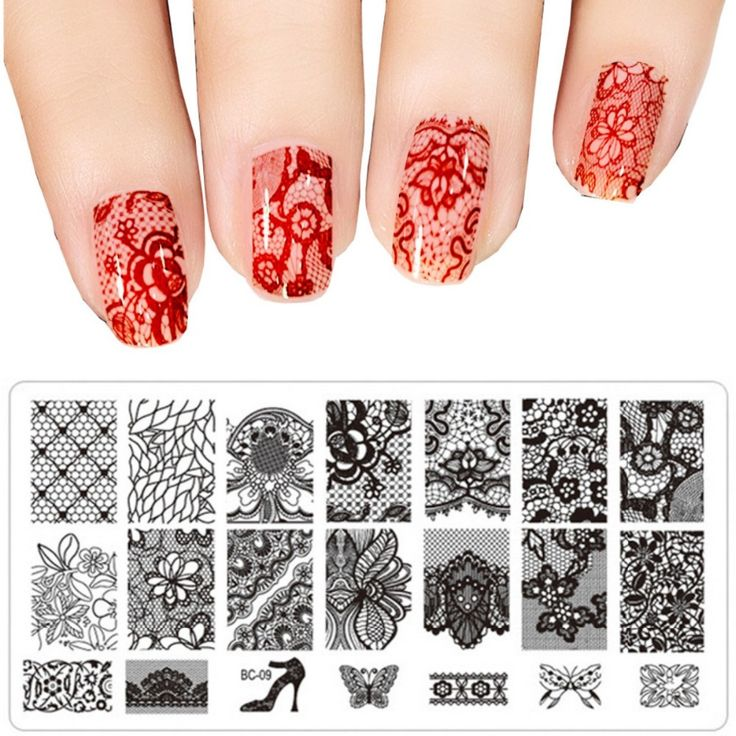 118 best templates images on pinterest ongles stamps and role 1pcs diy nail art image black lace flower design tool equipment stamp stamping plates manicure template solutioingenieria Image collections