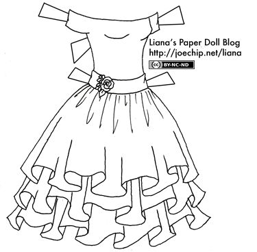 Black and White Party Dress   Liana's Paper Dolls