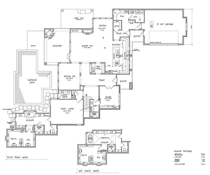 Current First Floor Plan   Customize This Plan Or Build Your Own!