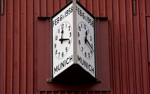 Munich clock at Manchester United's Old Trafford Stadium