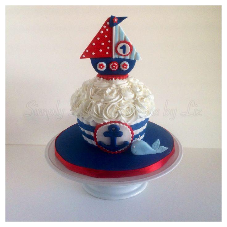 Nautical smash cake