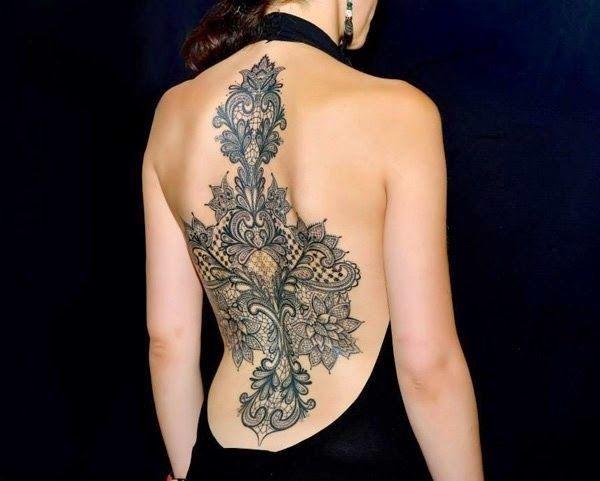 Tatuajes de lencería, encajes y puntillas