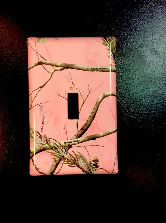 Pink Camo Light Switch Cover Real Tree Camo by LilHelpingHands