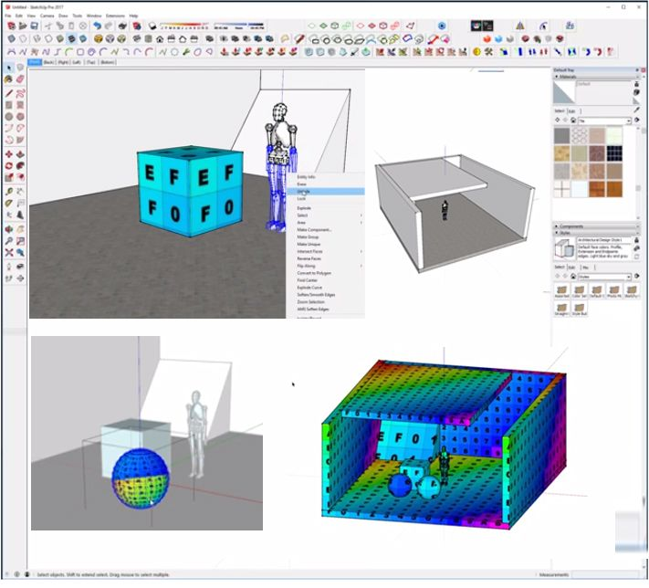 Sketchup Users Are Pro In Creating Different Textures And Models