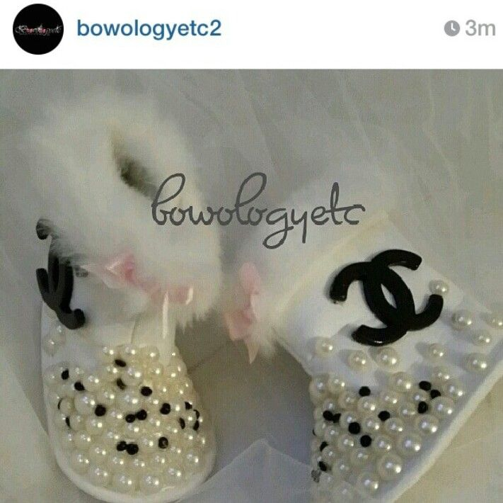 Baby bling Chanel boots