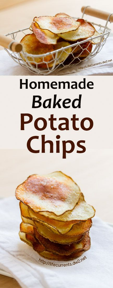 Homemade Baked Potato Chips - Life Currents