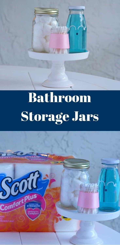Bathroom Storage Jars Happy Family Blog Pinterest Diy