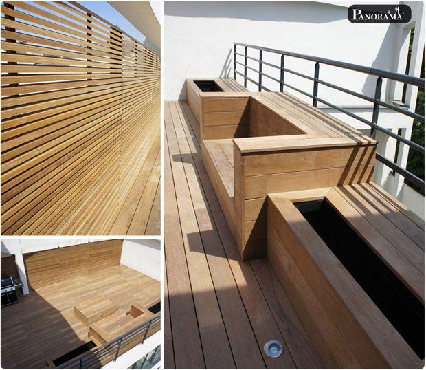 Les 25 meilleures id es de la cat gorie bois exotique sur Coffre terrasse bois
