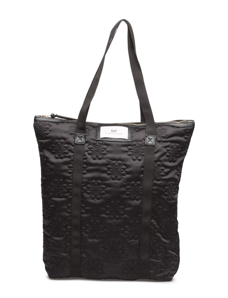 DAY - Day Gweneth Sign Tote Double carrying handles Inner zip pocket Logo detail Top zip closure Classic Practical The Gweneth is a DAY staple piece that combines femininity and functionality. Patterned texture