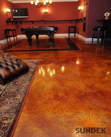 Stained Concrete Floors | acid stained concrete floors