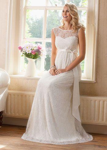 Lindos vestidos de novias para embarazadas | Colección Gorgeous                                                                                                                                                     Más