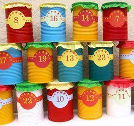 Bastelanleitung für Adventskalender aus Blechdosen zum Selberfüllen