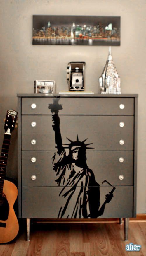 from Better After blog, redone DIY dresser