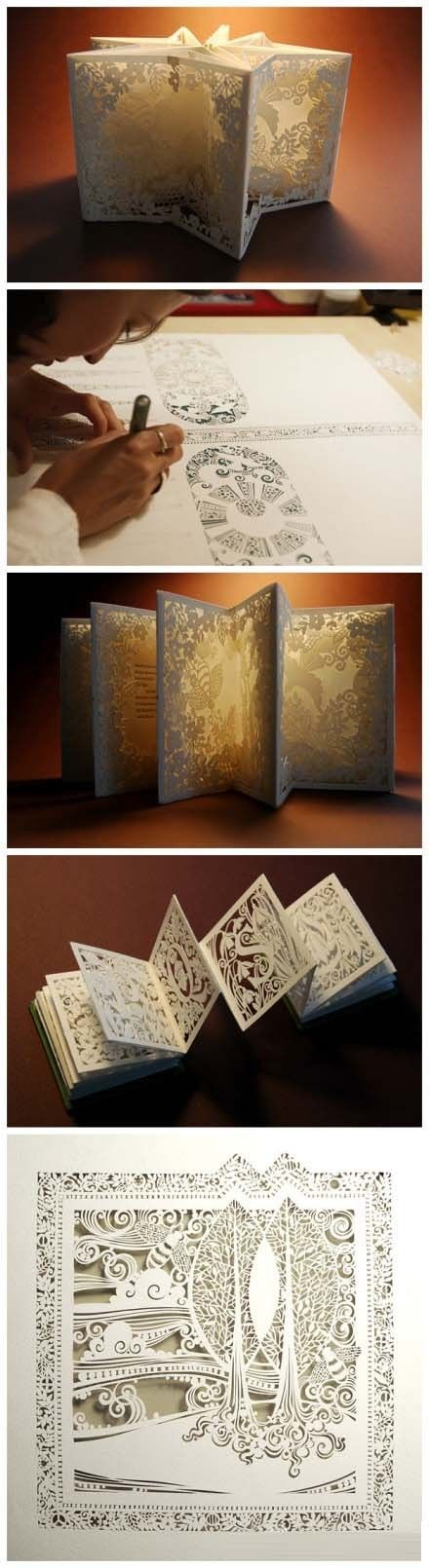 Papercraft - wish I knew the artist -- was thinking of pinning to my DIY board! :D cause, yeah...