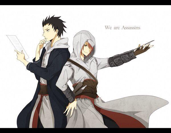 Karasuma Tadaomi and Karma Akabane |Assassin's Creed Crossover|