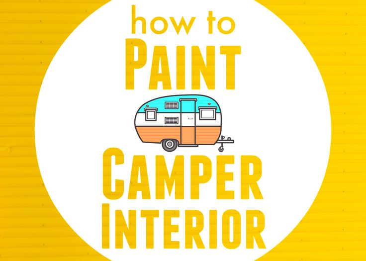 Learn how to paint camper interior and bring and old camper back to life.