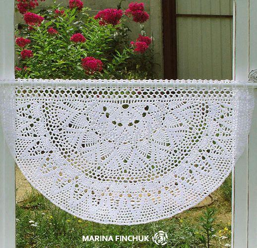 Шторки-zazdrostki «Шелковица», crochet-curtain