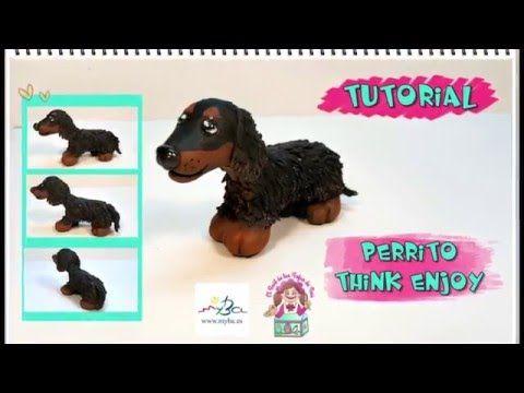 Tutorial Perrito Think Enjoy. Cómo hacer teckel pelo largo con pasta modelar. - YouTube