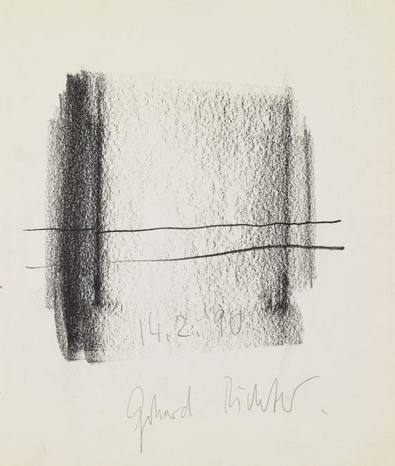 an exquisite Gerhard Richter graphite on paper drawing - Ohne Titel
