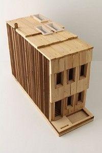 austin + mergold rowhome birdhouse