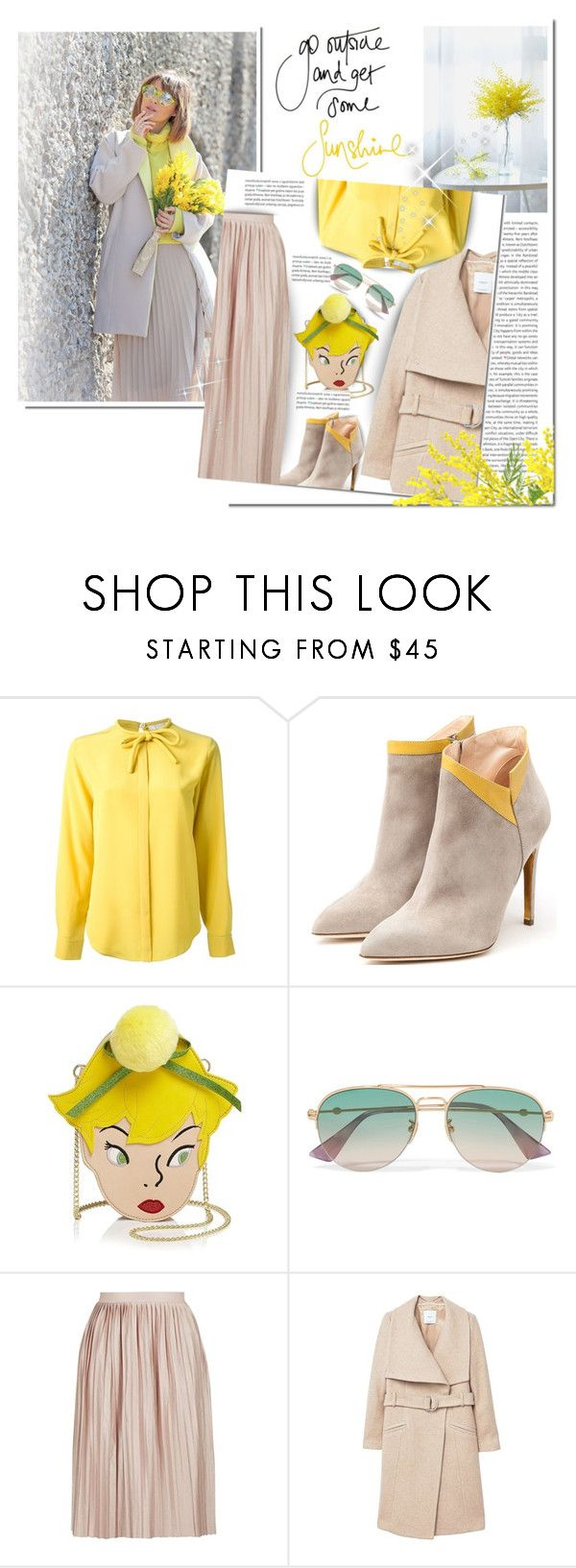 """""""Spring Season 2018 / * Mimosa*"""" by mrswomen ❤ liked on Polyvore featuring Oris, Chloé, Rupert Sanderson, Danielle Nicole, Gucci, Topshop and MANGO"""
