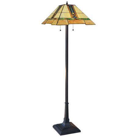 Craftsman Floor Lamp With Chevron Design.
