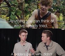funny, interview, ladder, maze runner, newt, gally